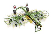 Twin Rotor Centre Delivery Rakes